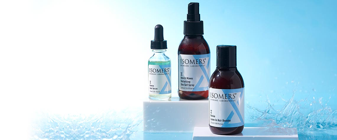 ISOMERS skincare - 312-060 ISOMERS Skincare Three-Piece Hair Serum, Leave-in Booster & Beach Waves Sea Salt Spray Set