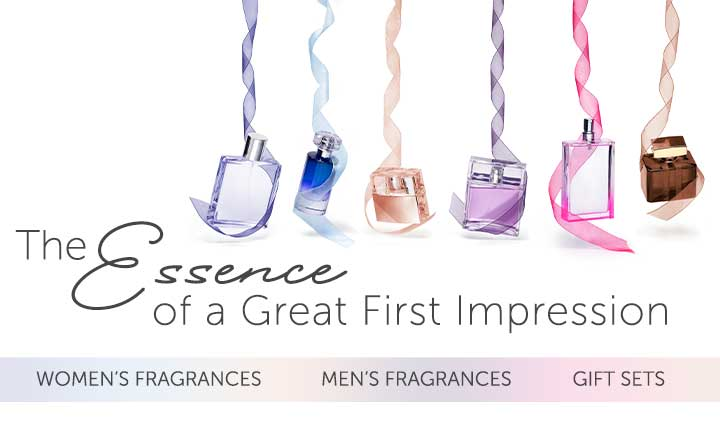 the essence of Great First Impressions shop women's, men's, and gift set fragrances