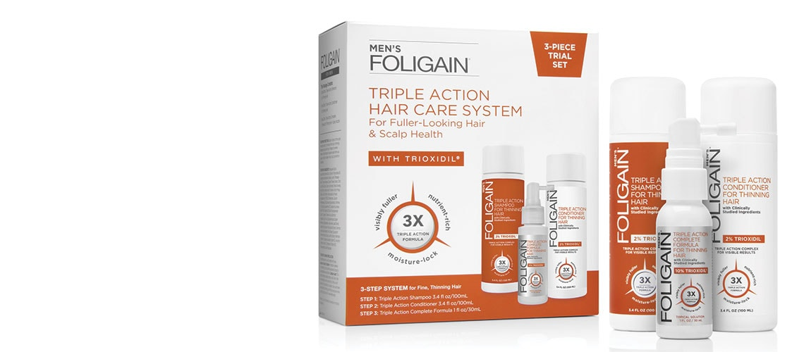 Designed with purity and potency, the advanced science and technology behind Foligain® products supports customers' hair care goals by providing consistently reliable and visible results. Foligain products are clinically proven to prevent hair loss, support scalp health, and formulated to promote the look of thicker, fuller hair.