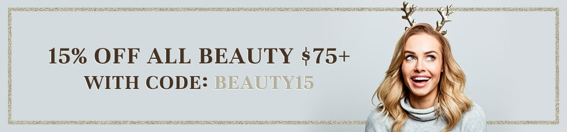 15% Off All Beauty $75+ with Code BEAUTY15