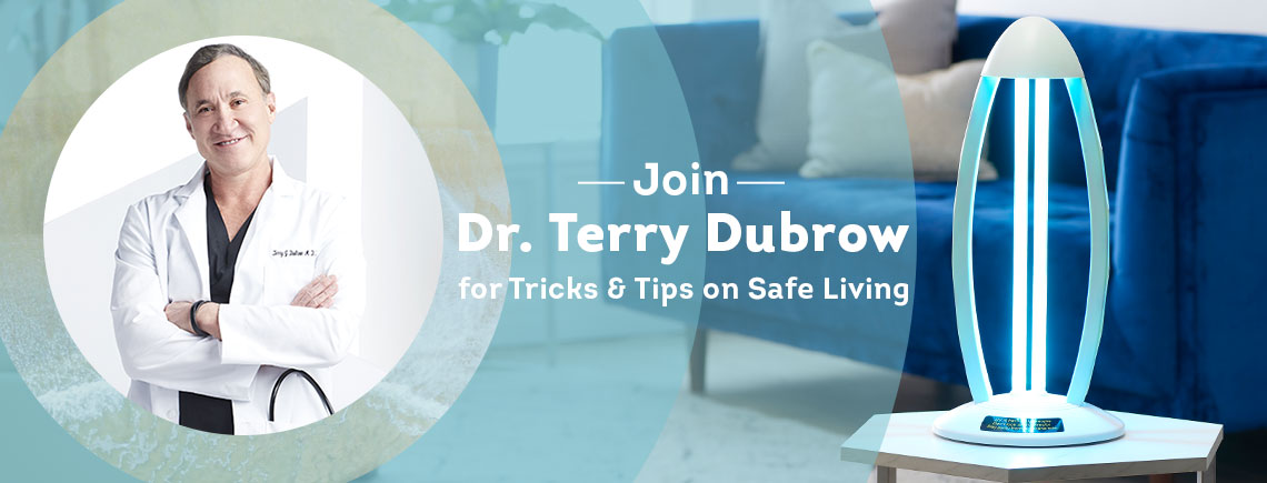 Join Dr. Terry Dubrow for Tricks & Tips on Safe Living -   002-864 LiveFit MD by Dr. Dubrow UVC Sterilization Lamp