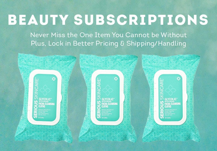 Beauty Subscriptions -  315-677 Serious Skincare Choice of 3 Pack Facial Cleansing Cloths 90 Count