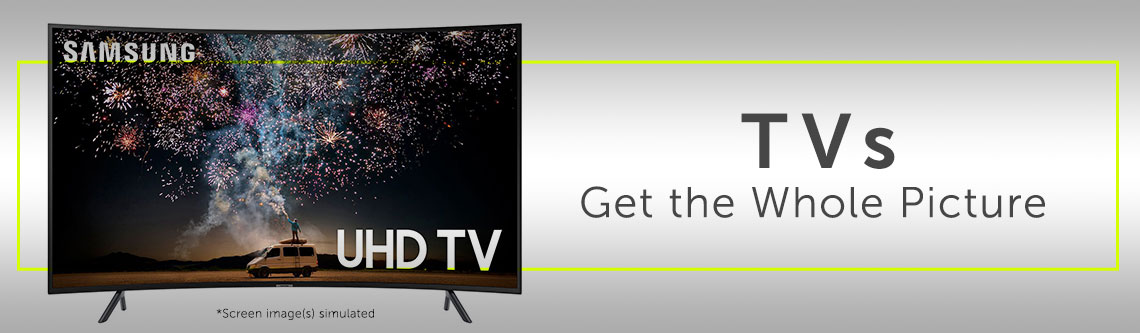 TVs - Get the Whole Picture 484-122 Samsung 55 or 65 4K Ultra HD Curved LED Smart TV