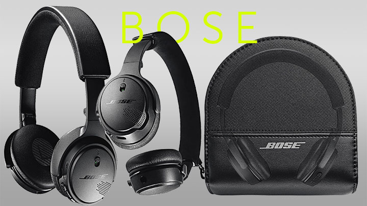 482-388 Bose Soundlink Active EQ On-Ear Bluetooth Wireless Headphones w Carrying Case