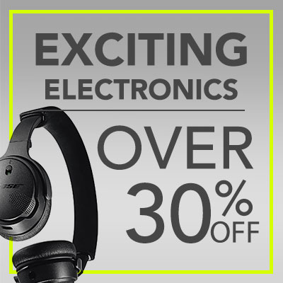 Exciting Electronics Over 30% OFF