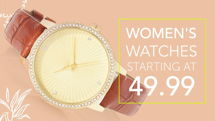Women's Watches Starting at Only $49.99 669-474 Croton Women's Manhattan Quartz Crystal Accented Strap Watch