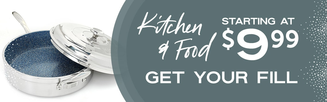 Kitchen & Food Get Your Fill With Prices Starting at $9.99 at ShopHQ 479-182 Deen Brothers Stainless Steel GranIT Insulated Dual Wall 12 Saute Pan w Lid
