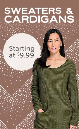 Sweaters & Cardigans  - Starting at $9.99 - 744-777 - Indigo Thread Co.™ Ribbed Knit Long Sleeve Patch Pocket Distressed Sweater