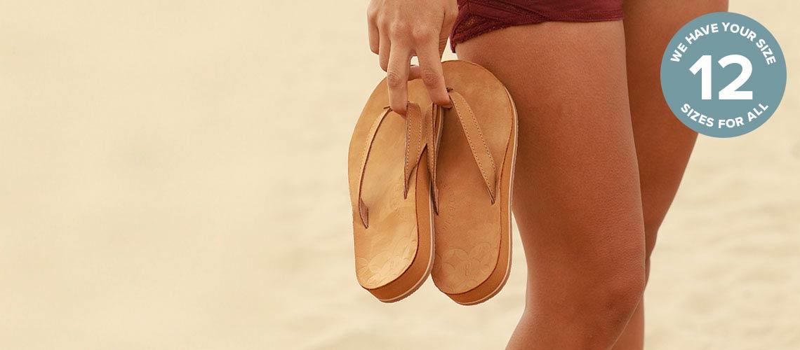 748-733 Revitalign Zuma Nubuck Leather Thong Sandals