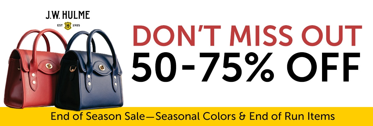 J.W. Hulme Don't Miss Out End of Season Sale 50-75% OFF