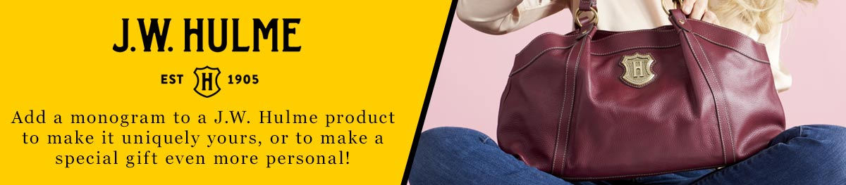 ShopHQ Customers can enjoy free monogramming from J.W. Hulme!