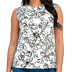 747-626 Heather's Closet Solid or Printed Brushed Knit Tank Top