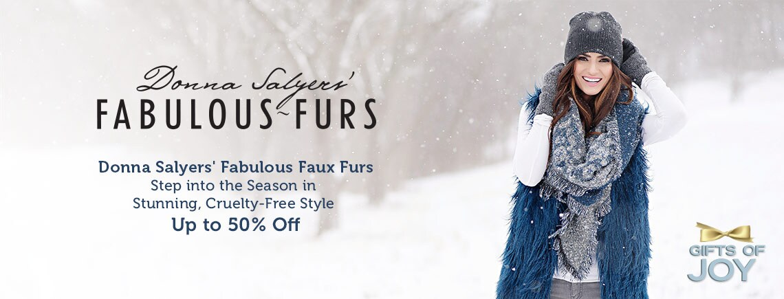 Donna Salyers' Fabulous Faux Furs Step into the Season in Stunning, Cruelty-Free Style Up to 50% Off