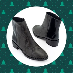 Footwear - 743-218 EMU Australia Roxby Snake Embossed Smooth Leather Water-Resistant Ankle Boots