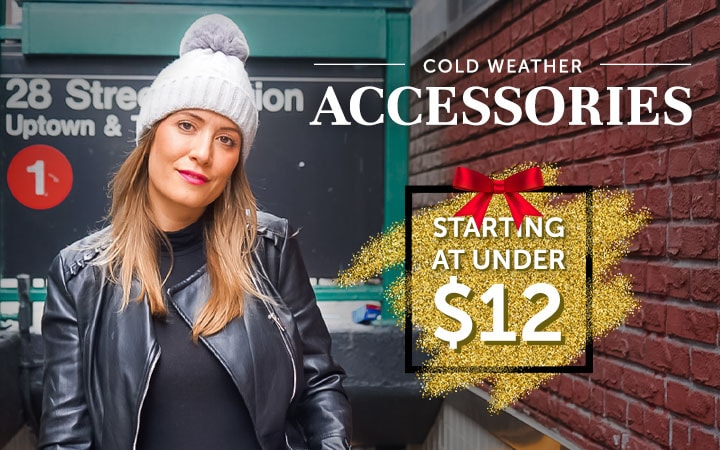 Cold Weather Accessories Starting at Under $12 - 750-410 AREA STARS Knit Hat with Pom Pom