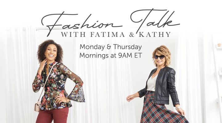 Fashion Talk Monday & Thursday Mornings at 9AM ET
