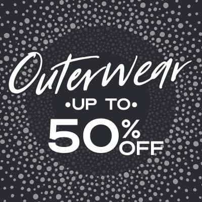 Outerwear - Up to 50% OFF