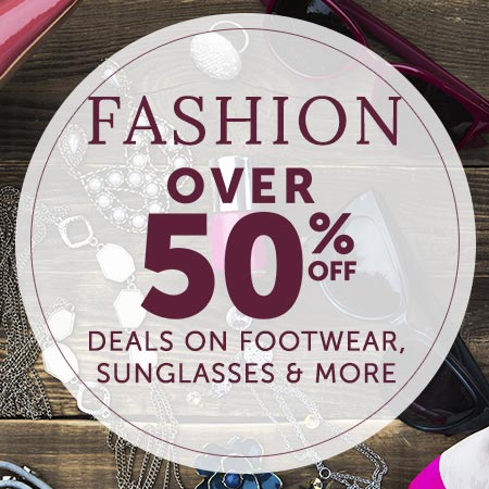 Fashion Over 50% Off Deals on Footwear, Sunglasses & More