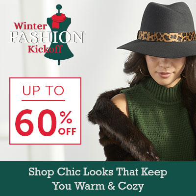 Winter Fashion Kickoff Up To 60% Off - 748-463 Donna Salyers' Fabulous-Furs Faux Wool Leopard Print Trimmed Fedora Hat