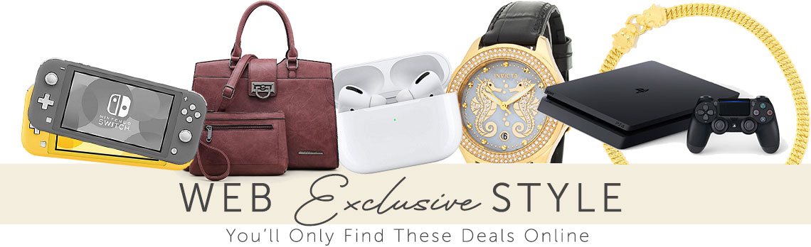 Web Exclusive Style 182-310 Stefano Oro 14K Gold 18 Electroform Panther Grumette Link Necklace, 678-958 Invicta Women's Ocean Voyage Sea Horse Quartz Crystal Accented Mother-of-Pearl Strap Watch, 747-477 Dasein Faux Leather Satchel w Removable Strap & Matching Wristlet Pouch, 487-925 Nintendo Switch Lite w Super Smash Bros & 11-in-1 Accessories Kit,, 487-811 Sony PlayStation 4 Pro 1TB Console w Titanfall 2 & Accessories
