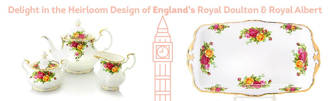 Delight in the Heirloom Design of England's Royal Doulton & Royal Albert - 469-251 Royal Albert Old Country Roses 11.5 Bone China 22K Gold Accented Sandwich Tray
