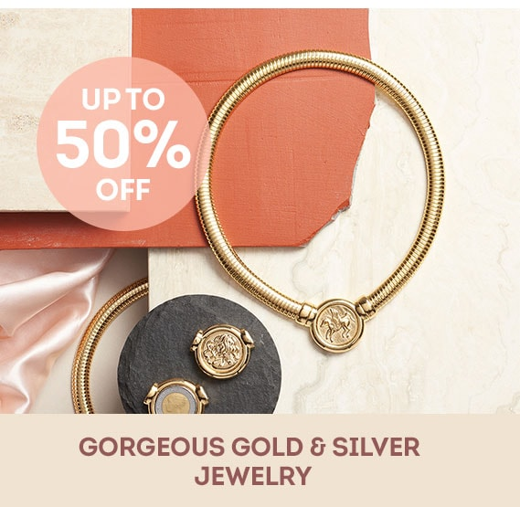 Gorgeous Gold & Silver Jewelry Up to 50% Off - 182-283 Toscana Italiana 18K Gold Embraced™ 17 Polished Coin Tubogas Link Magnetic Necklace