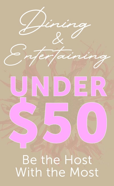 Dining & Entertaining Under $50 Be the Host With the Most