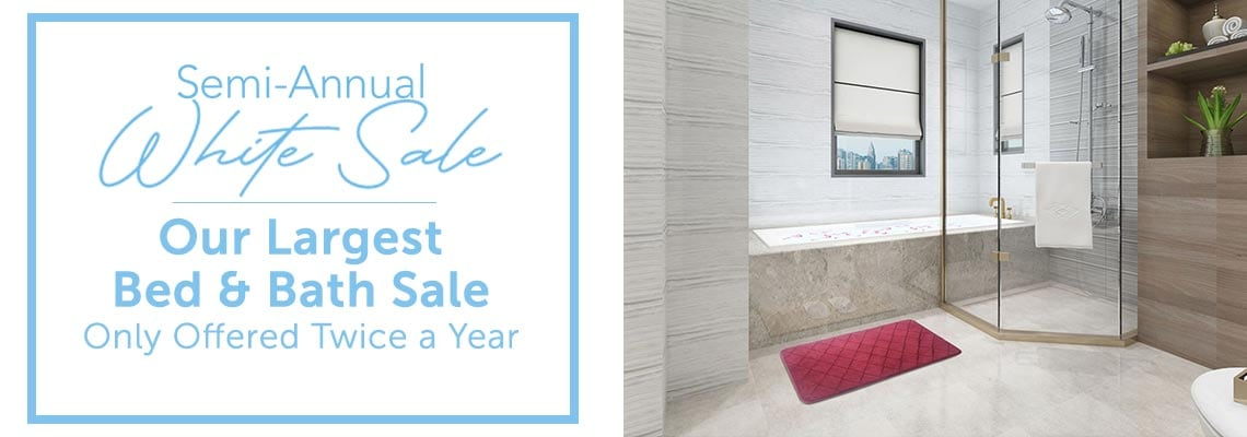 Semi-Annual White Sale Our Largest Bed & Bath Sale - Only Offered Twice a Year - 492-687 Lorient Home Velvet Memory Foam Diamond Stitched 2-Piece Bath Mat Set