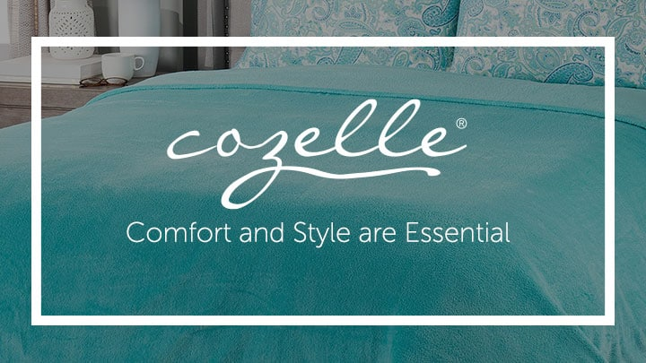 Cozelle Comfort and Style are Essential at ShopHQ 487-246 Cozelle® Ultra Soft & Cozy Plush Knit Blanket