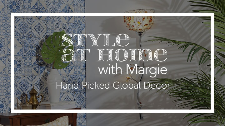 Style at Home with Margie Hand Picked Global Decor at ShopHQ 481-412 Style at Home with Margie 38.5 Triple Lit LED Glass Crystal Wallchiere