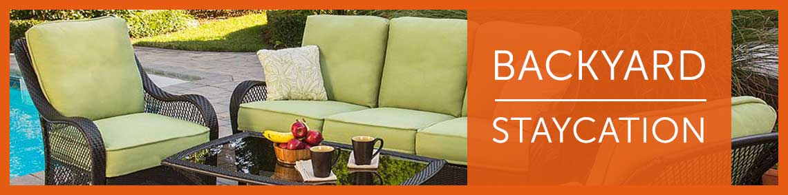 Backyard Staycation 457-254 Hanover Outdoor Furniture Four-Piece Orleans Seating Set