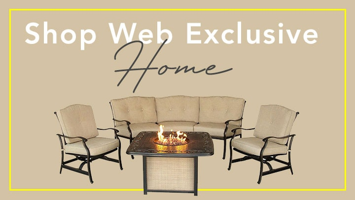 Shop Web Exclusive Home 456-994 Hanover Outdoor Furniture Traditions Four-Piece Fire Pit & Patio Set