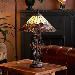 Tiffany-Style Lighting  Recognizable Handcrafted Pieces - 492-382 Tiffany-Style Lighting 16 x 23.5 Drusella Tiffany Table Lamp