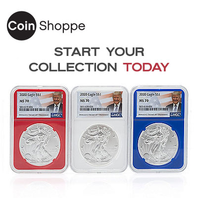 The Coin Shoppe, start your collection today at ShopHQ 489-756 2020 Set of 3 Trump Coins NGC MS70 w Storage Box