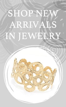 Shop New Arrivals in Jewelry - 190-494 Golden Odyssey 14K Gold Embraced™ 7.5 or 8 Organic Shape Bangle Bracelet
