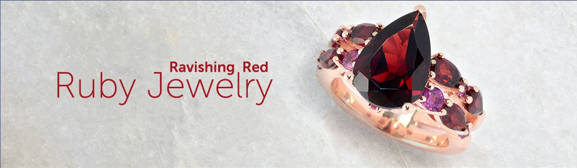 Ruby Jewelry at ShopHQ | 188-483 Hall of Style 6.22ctw Multi Shape Garnet, Rhodolite & Ruby Ring