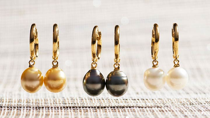 Chinese New Year at ShopHQ - 186-046 Kwan Collections 14K Gold Embraced™ 1 9-10mm South Sea Cultured Pearl Drop Earrings