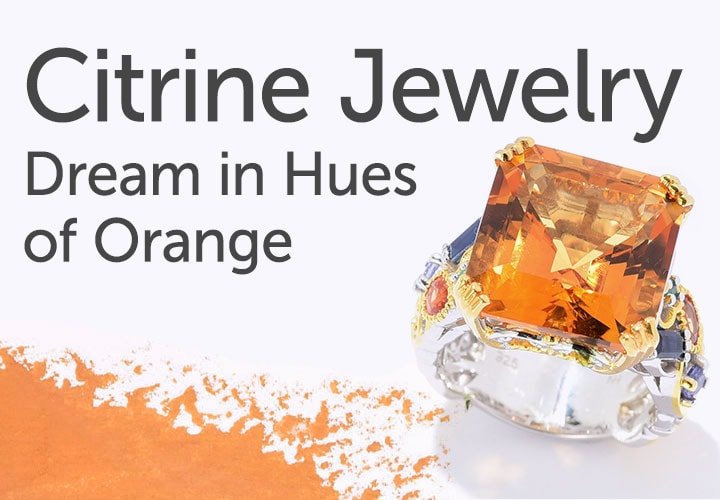 Citrine Jewelry - Dream in Hues of Orange 183-625 Gems en Vogue 11.46ctw Bolivian Fire Citrine & Multi Gemstone Cocktail Ring