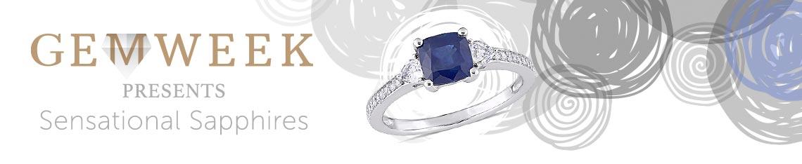 Gem Week presents - Sensational Sapphires - 179-555 Julianna B 14K White Gold 1.70ctw Sapphire & Diamond Ring