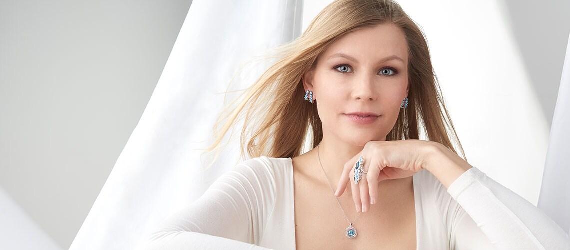 186-261 Gem Treasures® Multi Cut Gemstone Double Huggie Hoop Earrings