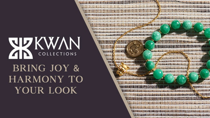 Kwan Collections Bring Joy & Harmony to Your Look at ShopHQ |  187-054 Kwan Collections 10mm Jade Bead & Choice of Chinese Charm Bracelet