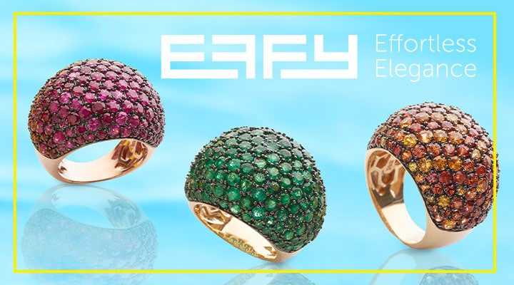 EFFY Effortless Elegance - 175-719 EFFY Precious 14K Gold Choice of Gemstone Dome Ring