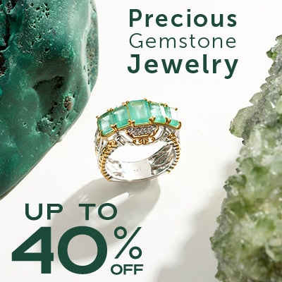 Precious Gemstone Jewelry Up to 40% OFF at ShopHQ | 181-827 - Gems en Vogue Michael's Holiday 3.35ctw Zambian Emerald & Diamond Ring
