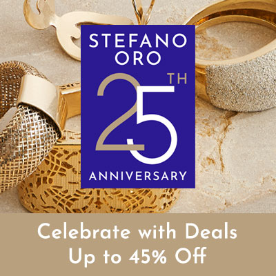 Stefano Oro 25th Anniversary - Celebrate with Deals Up to 45% Off - 181-688 Stefano Oro 14K Gold Mesh Stretch Dome Ring