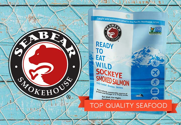 SeaBear - Top Quality Seafood - 491-372 SeaBear Smoked Sockeye RTE 6-Pack