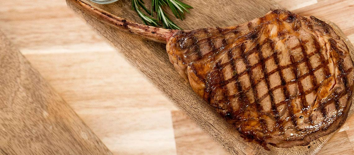ShopHQ customers now have exclusive access to some of the culinary world's best meats, seafood and pre-prepared meals with Chef Daniel Green - 491-792 Chef Daniel Green Set of 2 (36 oz) Prime Tomahawk Steaks by Pat LaFrieda