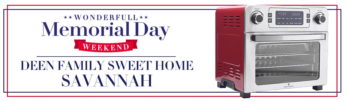 Deen Family Sweet Home Savannah Kitchen and Food at it's Finest 487-783 Paula Deen 1700W 24 qt Air Fryer Oven w Tray & Basket Inserts