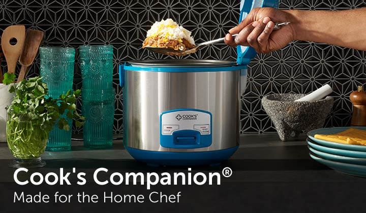Cook's Companion® Made for the Home Chef - 481-050 Cook's Companion® 700W 20-Cup Nonstick 1-Touch Multi Cooker w Steamer Insert