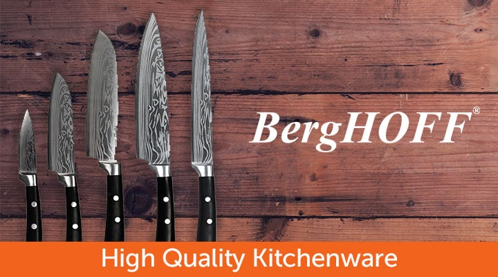 BergHOFF High Quality Kitchenware 479-673 BergHOFF Antigua 5-Piece Knife Set w Case