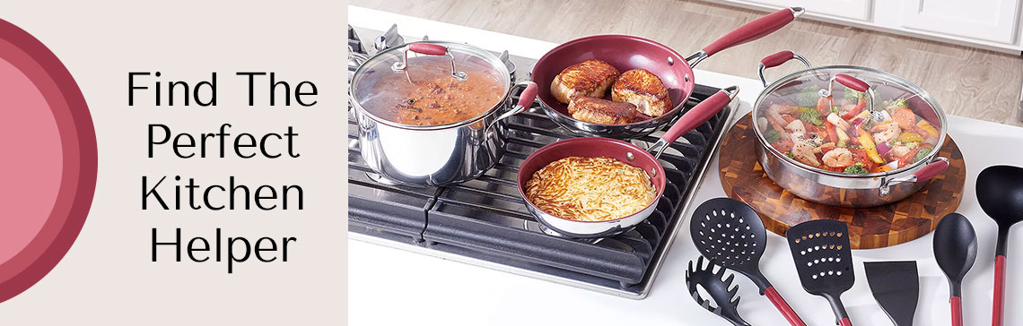 Find The Perfect Kitchen Helper - 489-229 Deen Family 12-Piece Tri-Ply Stainless Steel Cookware & Utensil Kitchen Set